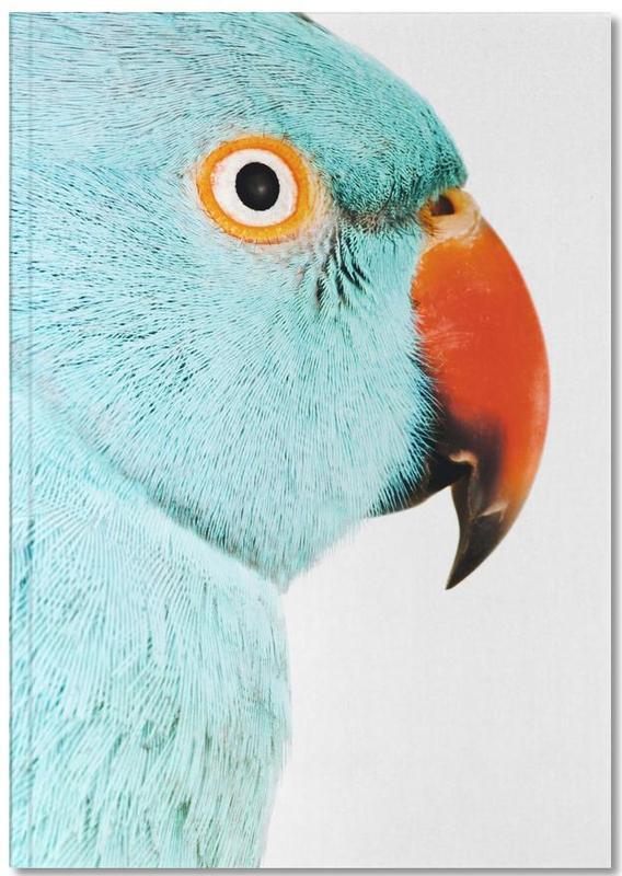 Nursery & Art for Kids, Parrots, Beautifully Blue Notebook