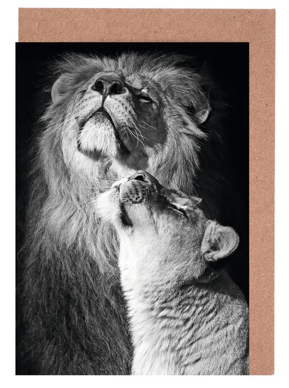 Lions in Love -Grußkarten-Set