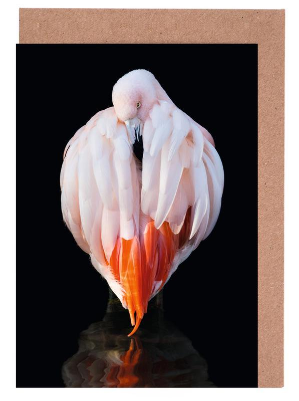Flamingo in Reflection -Grußkarten-Set