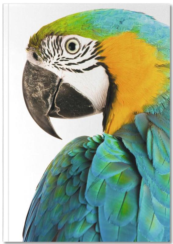 Nursery & Art for Kids, Parrots, Blues and Oranges Notebook