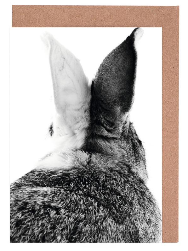 Bunny Ears Black & White cartes de vœux