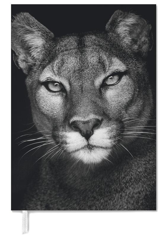 Black & White, Safari Animals, Lioness Personal Planner