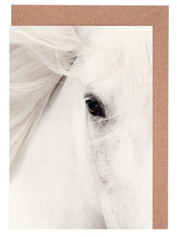 White Horse -Grußkarten-Set