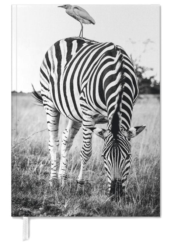 Black & White, Safari Animals, Zebra and Friend Personal Planner