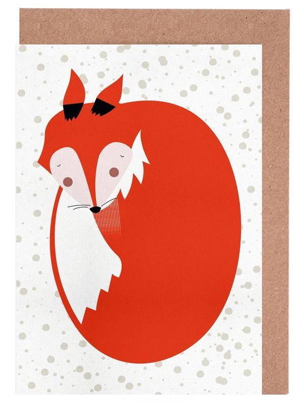 Sleepy Fox -Grußkarten-Set