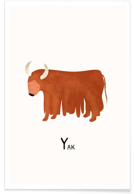 Børneværelse & kunst for børn, Yak Plakat