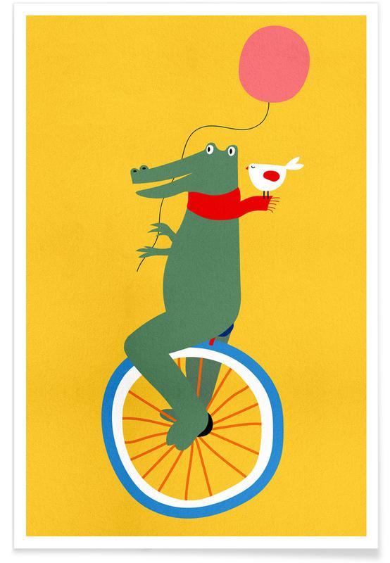 Art pour enfants, Unicycle Croc affiche