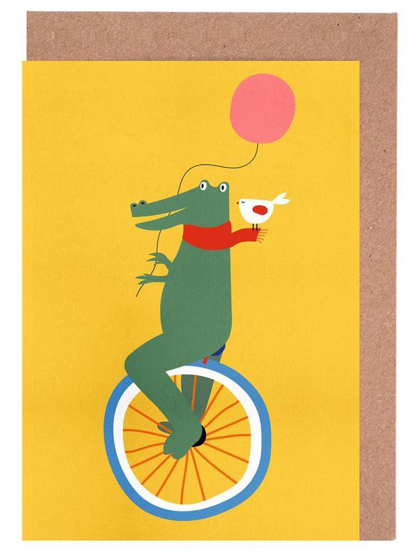 Unicycle Croc -Grußkarten-Set