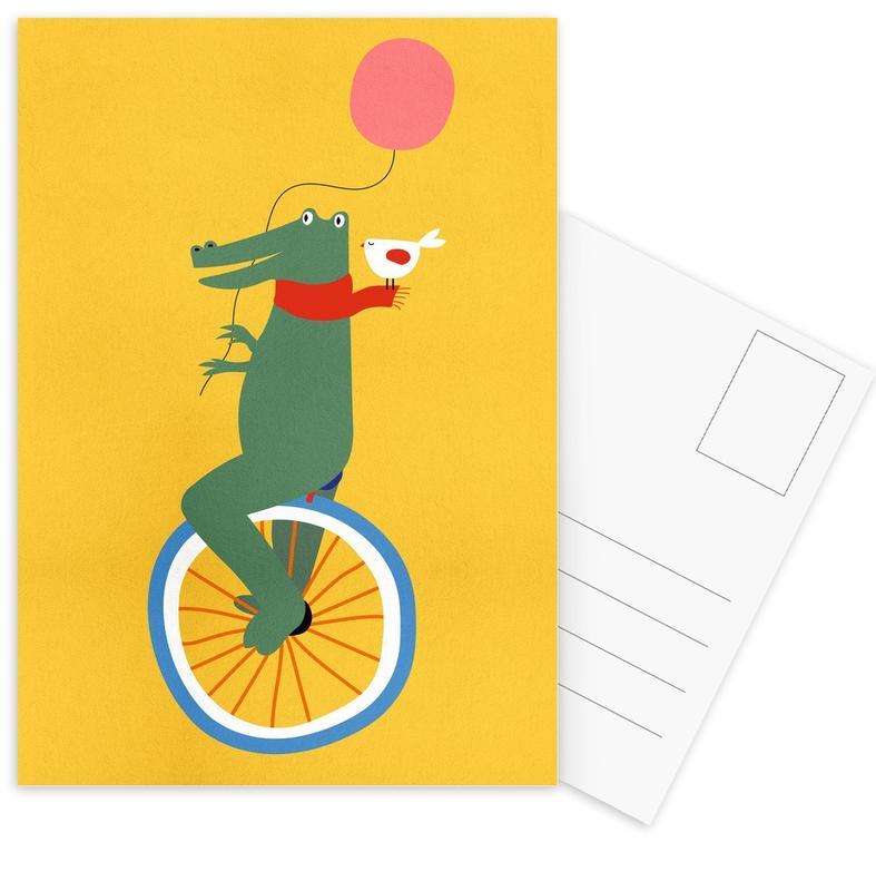 Unicycle Croc -Postkartenset