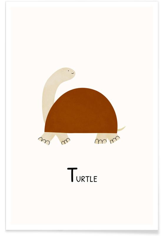 Børneværelse & kunst for børn, Turtle Plakat