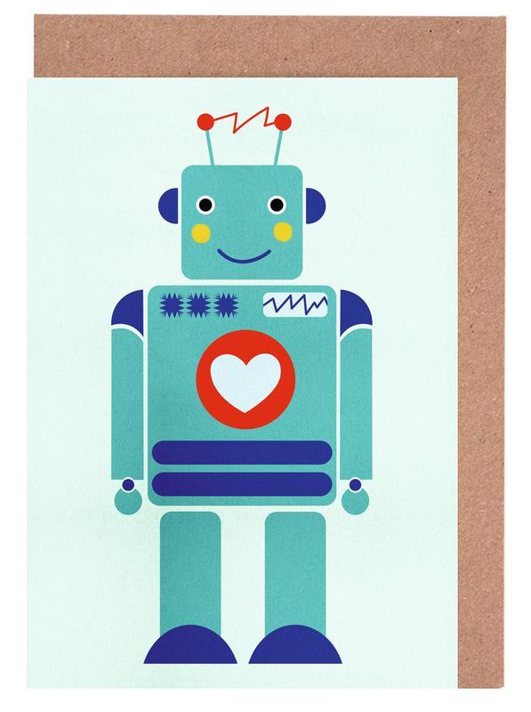 Robot with a Heart cartes de vœux