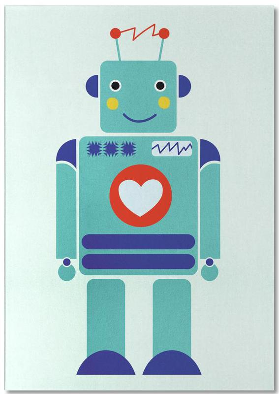 Robot with a Heart -Notizblock