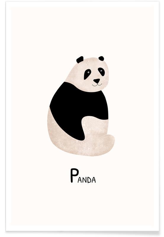 Børneværelse & kunst for børn, Panda Plakat