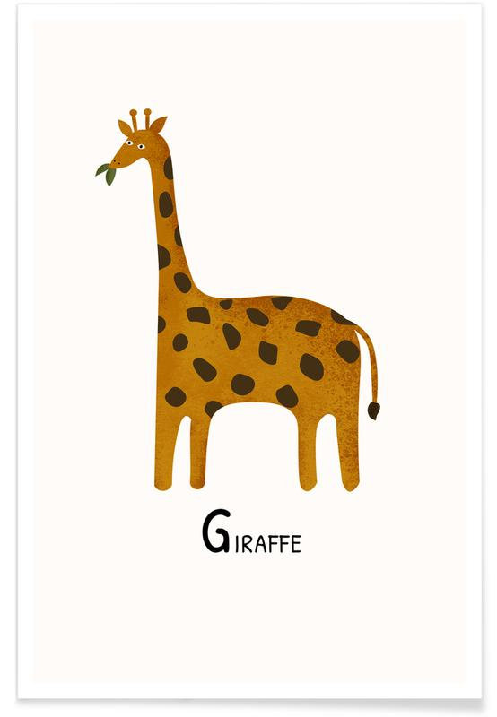 Art pour enfants, Giraffe affiche