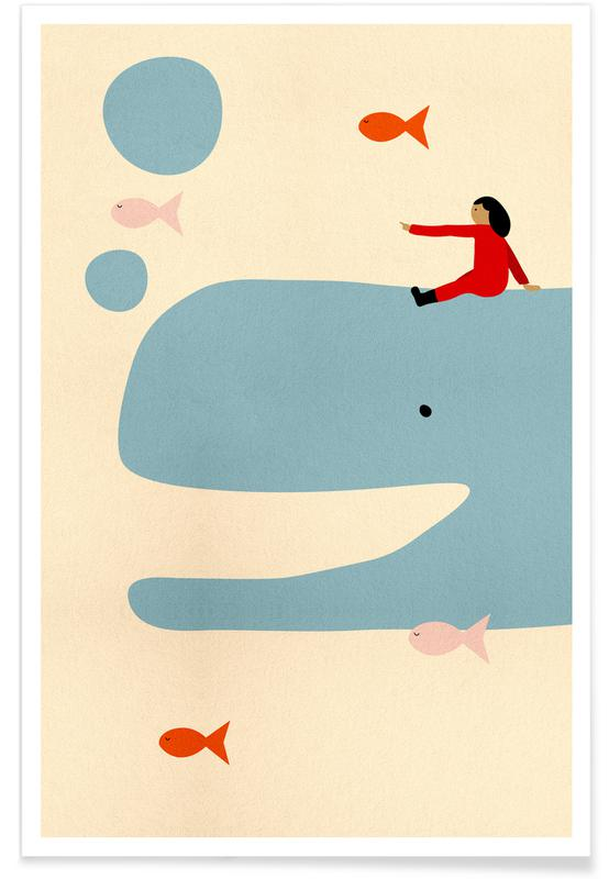 Art pour enfants, Baleines, An Ocean Adventure affiche