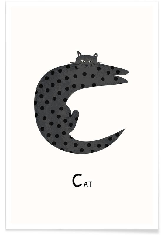 C for Cat Poster