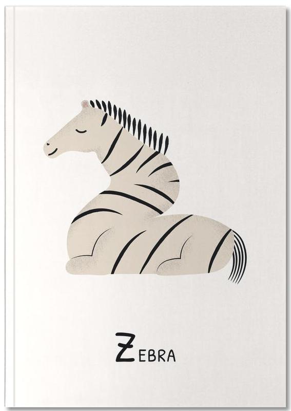 Zebra's, Kunst voor kinderen, Z for Zebra Notebook