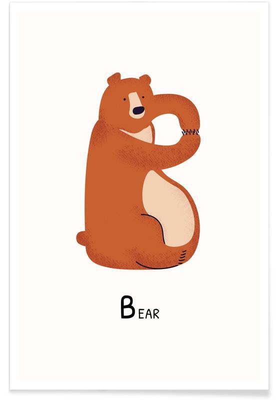 B for Bear Poster