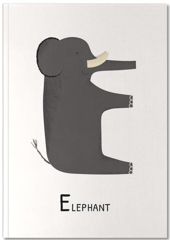 Kunst voor kinderen, Olifanten, E for Elephant Notebook