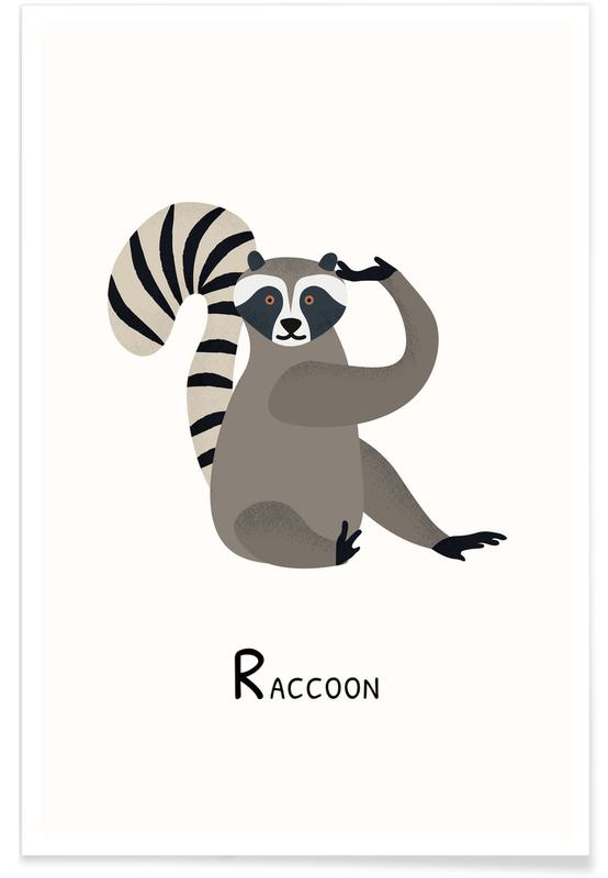 R for Raccoon Poster