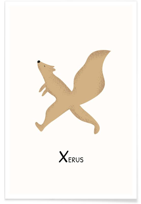 X for Xerus Poster