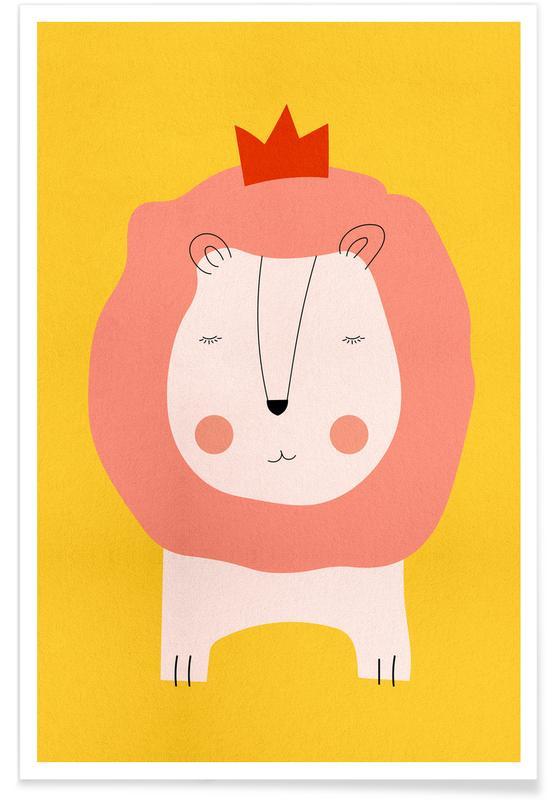 Art pour enfants, Lions, Lion King affiche
