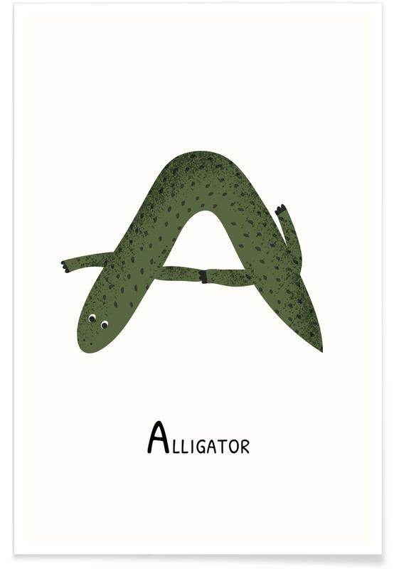 A for Alligator Poster