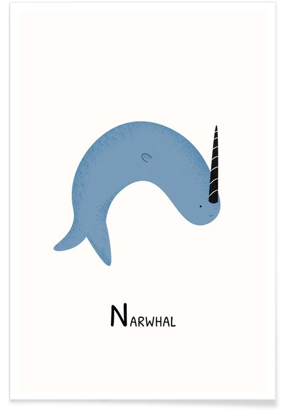 N for Narwhal -Poster