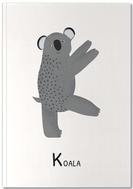 Koalas, Art pour enfants, K for Koala Notebook