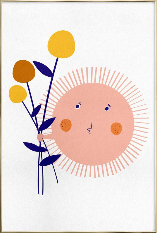 Sunshine Bouquet poster in aluminium lijst
