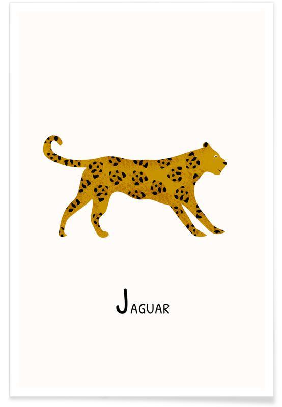 Art pour enfants, Jaguars, Jaguar affiche