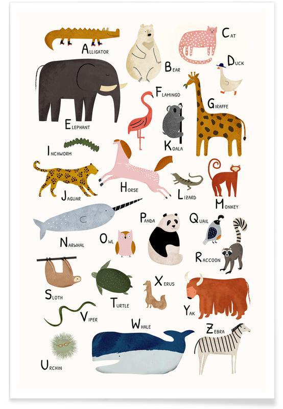 Børneværelse & kunst for børn, Animal Friends II Plakat