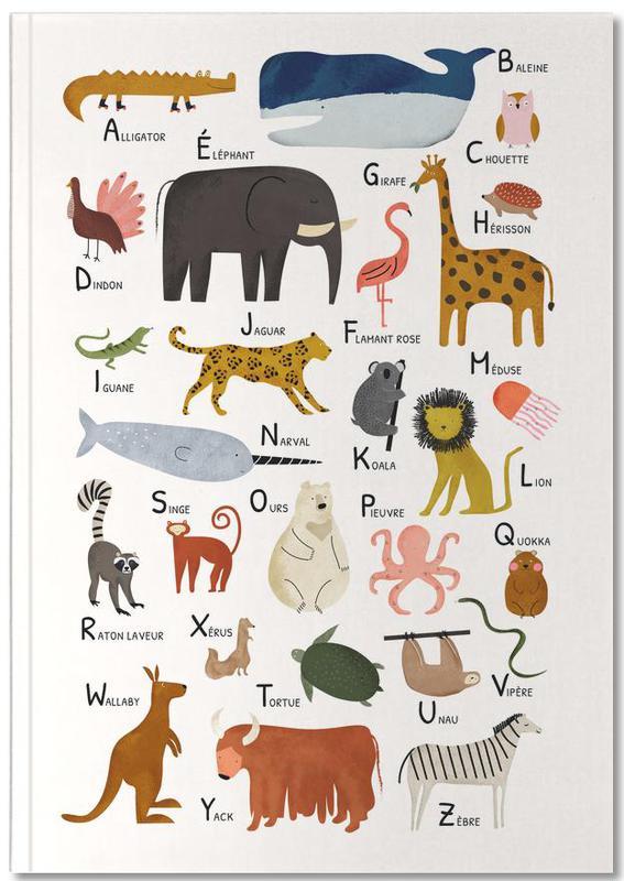 Alphabet et lettres, Art pour enfants, Abécédaire des animaux Notebook