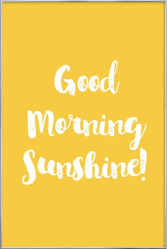 Good Morning Poster i aluminiumram