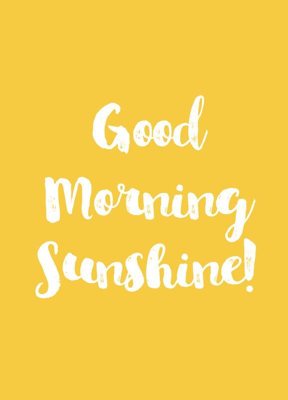 Good Morning -Leinwandbild