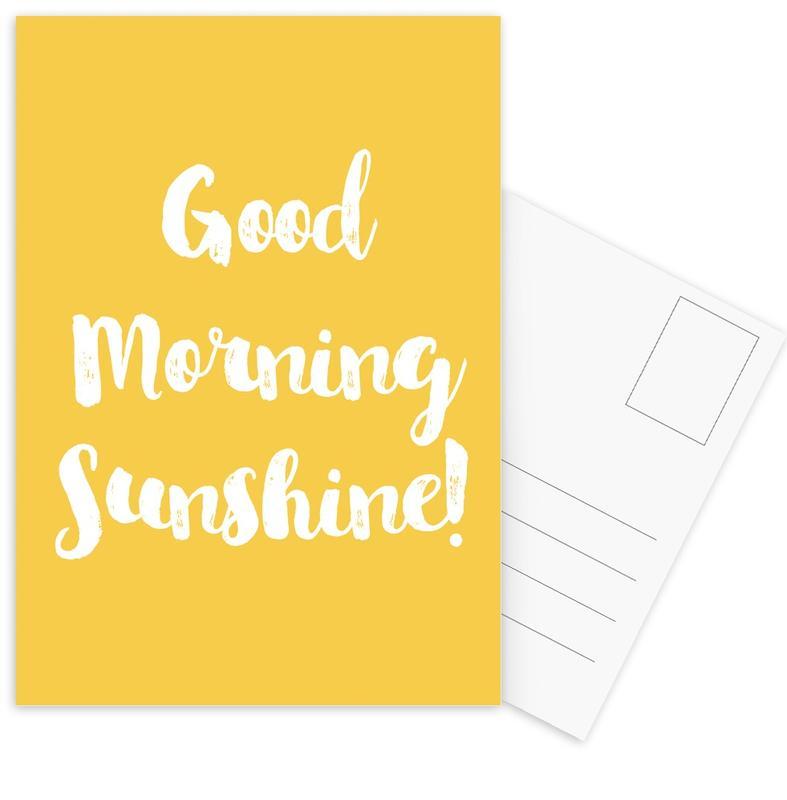 Good Morning -Postkartenset