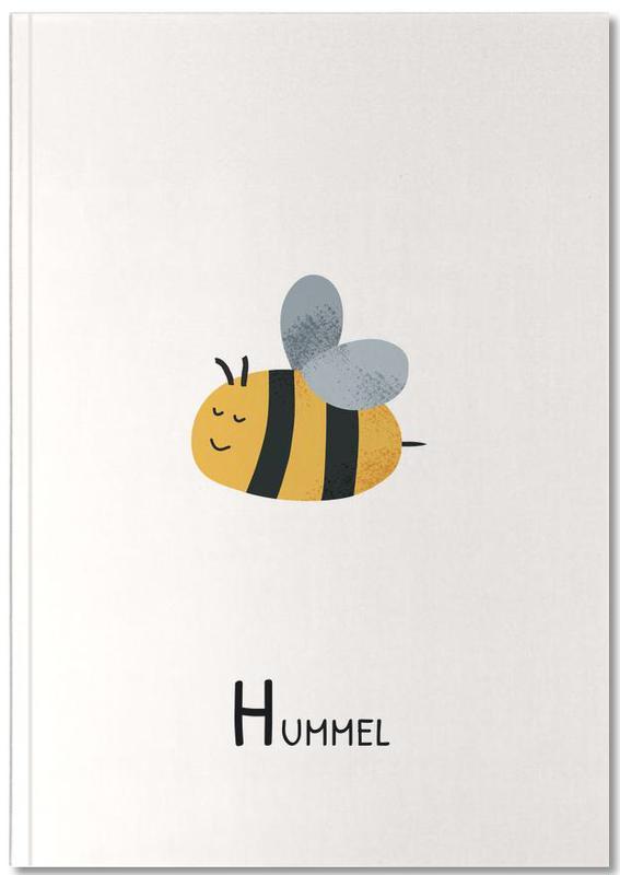 Kinderzimmer & Kunst für Kinder, Bienen, Alphabet & Buchstaben, Hummel Notebook