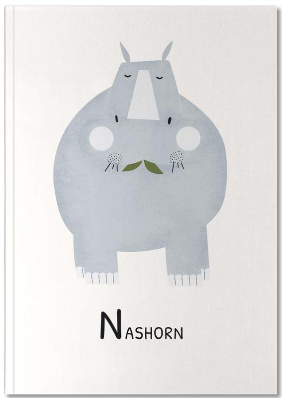 Alphabet et lettres, Rhinocéros, Art pour enfants, Nashorn Notebook
