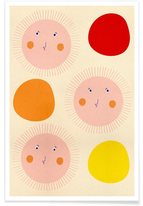 Børneværelse & kunst for børn, Strawberry Sunshine Plakat
