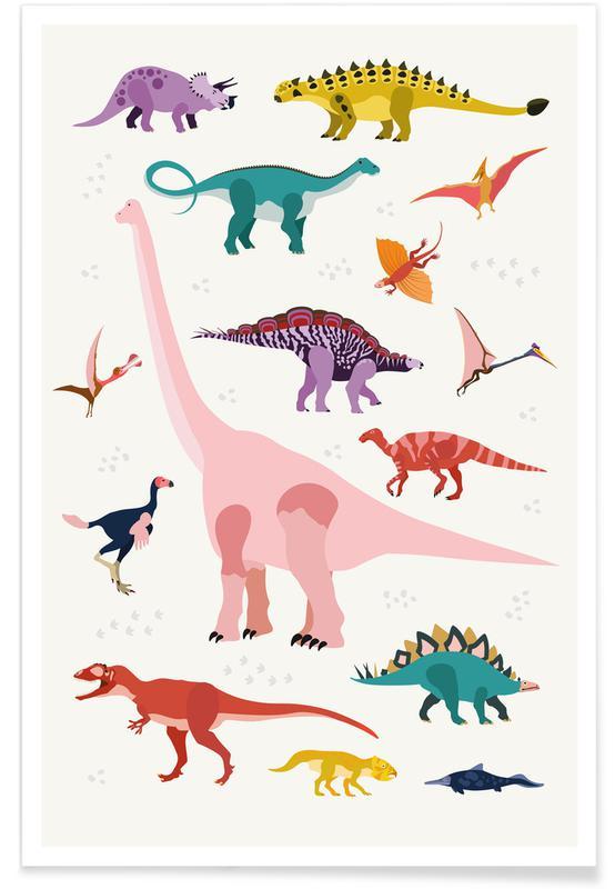 Nursery & Art for Kids, Dinosaurs, Dinosaur World Poster