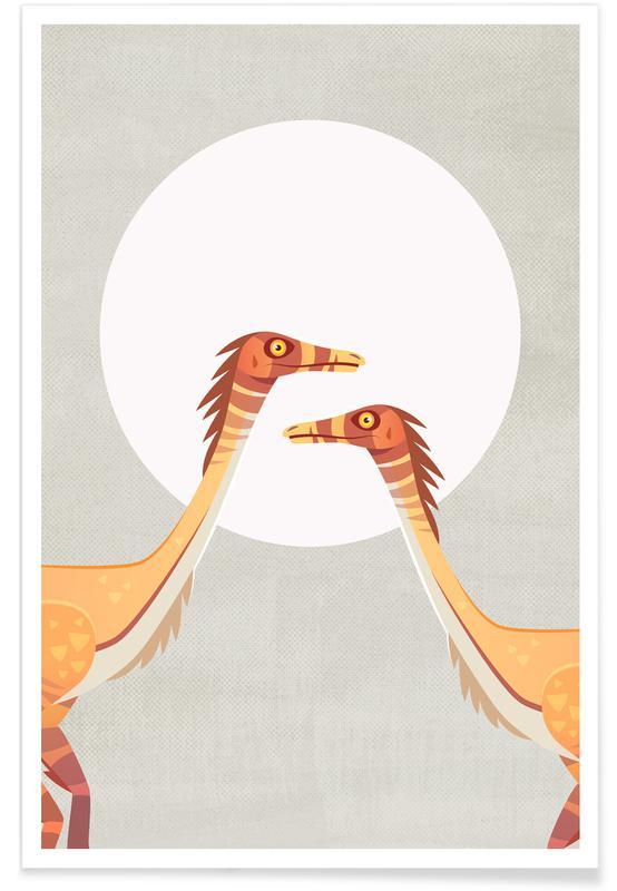 Nursery & Art for Kids, Dinosaurs, Raptor Pals Poster