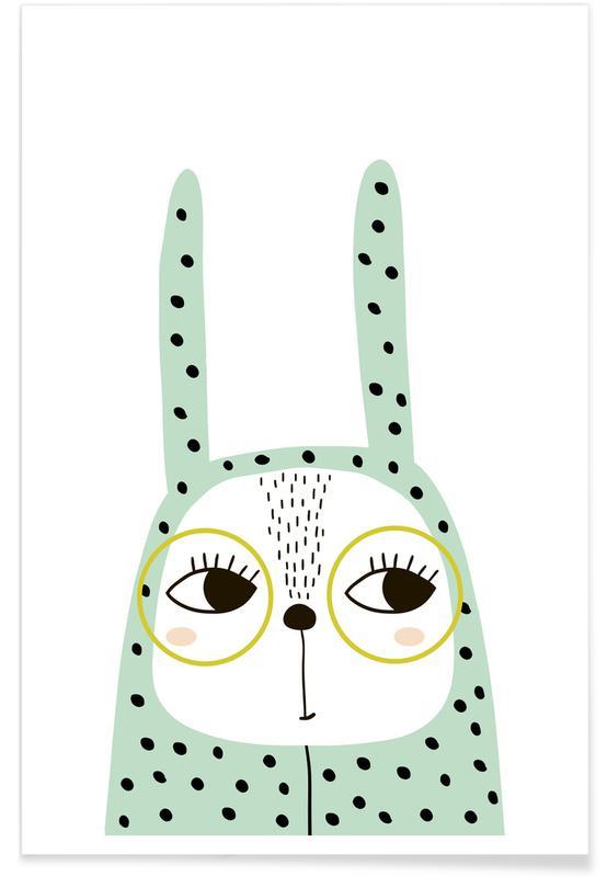 Nursery & Art for Kids, Rabbits, Bunny Onesie Poster