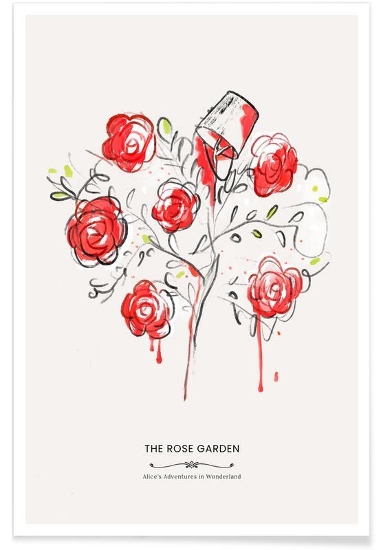 Art pour enfants, The Queen's Garden affiche