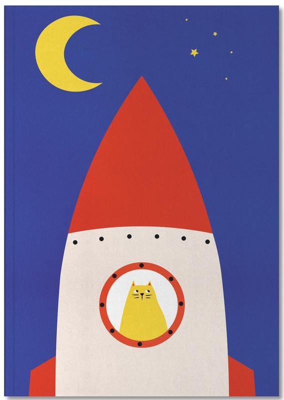 Fusées et vaisseaux spatiaux, Chats, Art pour enfants, Off to Space Notebook