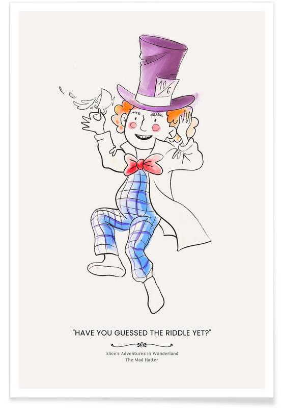 Art pour enfants, The Mad Hatter affiche