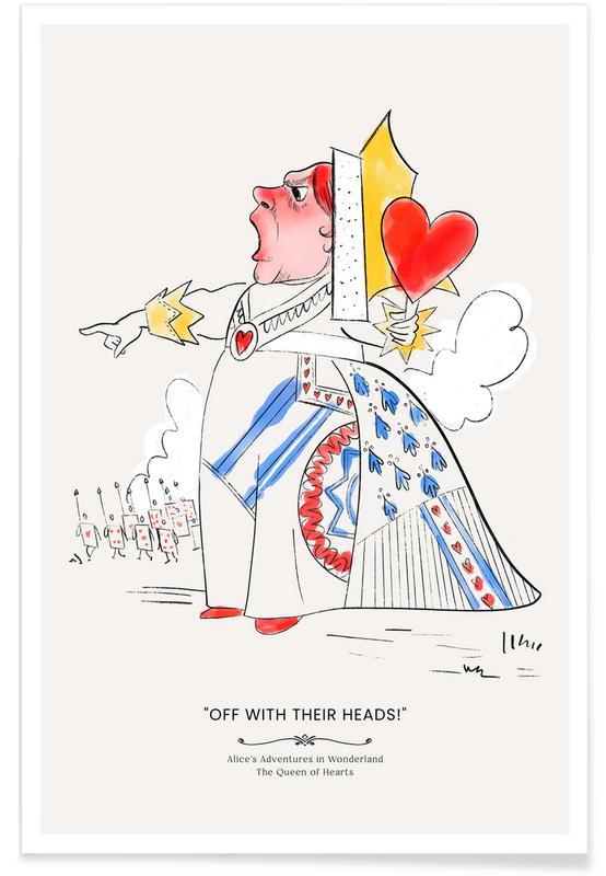 Art pour enfants, The Queen Of Hearts affiche