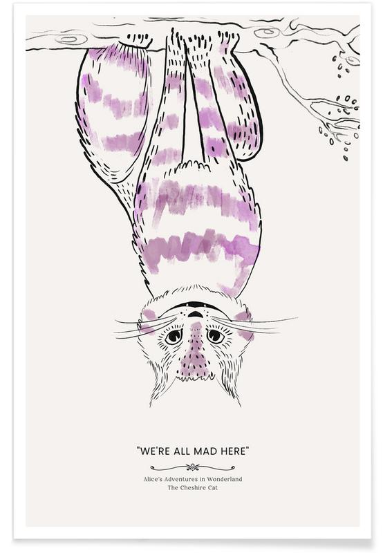 Art pour enfants, Chats, The Cheshire Cat affiche
