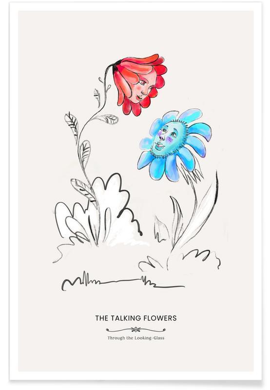 Nursery & Art for Kids, The Talking Flowers Poster