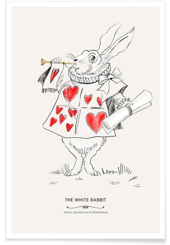 Art pour enfants, The White Rabbit affiche