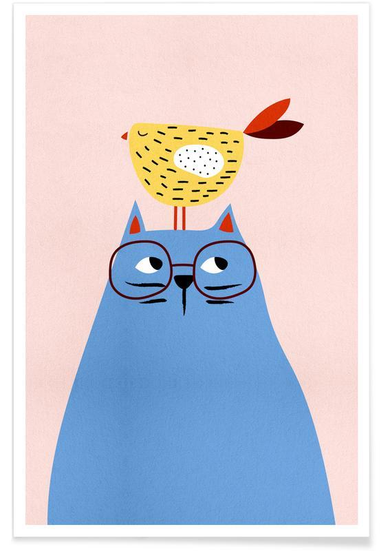 Katte, Børneværelse & kunst for børn, A Very Patient Cat Plakat